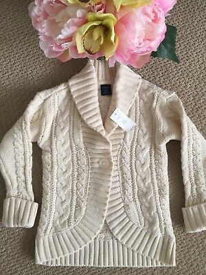 Baby Gap Girl Cable Knit Cocoon Cardigan Sweater Nwt 3T