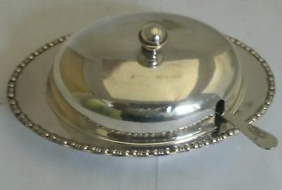 vintage silver plated  yeoman butter dish