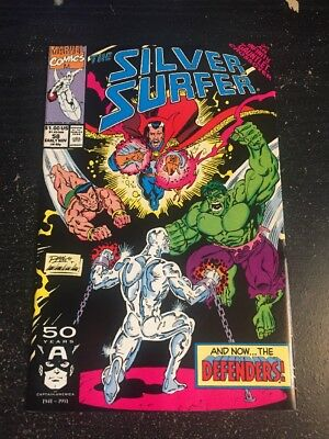 "Silver Surfer#58 Incredible Condition 8.5(1991) Lim Cover"" Infinity Gauntlet """