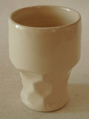"Vintage ""CATALINA ISLAND POTTERY"" Georgian Tumbler  – Pearly White Glaze"