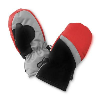 Infant & Toddler Boy's Thinsulate Colorblock Ski Mittens Red Black Grey New!