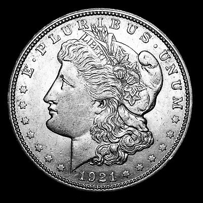 1921 D ~**ABOUT UNCIRCULATED AU**~ Silver Morgan Dollar Rare US Old Coin! #123