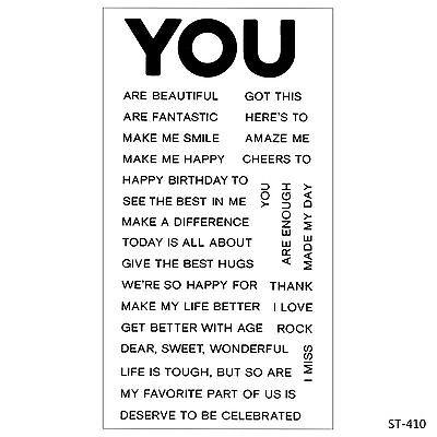 You Subject Phrases Clear Stamps for DIY Scrapbooking Decor Card Making Supplies