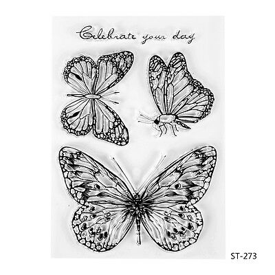 Butterflies Design Clear Stamps for DIY Scrapbooking Decor Card Making Supplies