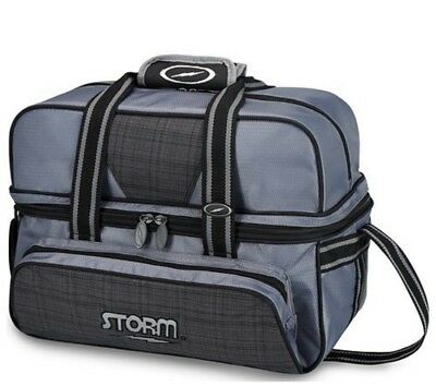 Storm 2 Ball Tote Bowling Bag with shoe pocket Color Grey Plaid