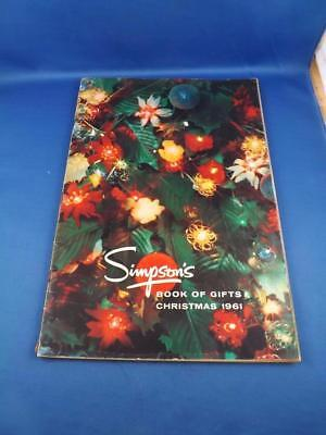 Simpsons Book Of Gifts Christmas 1961 Canada Vintage Catalog Toys Perfume Candy