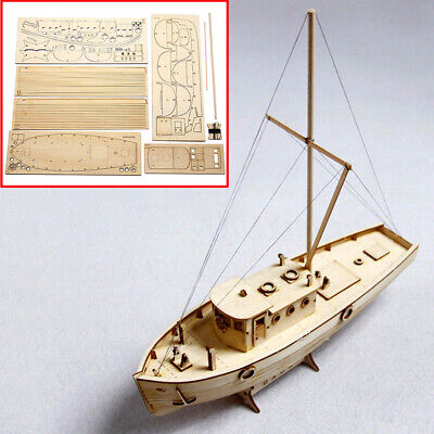 WOODEN SHIP BOAT Model DIY Kits 150 Scale Sailing Boat