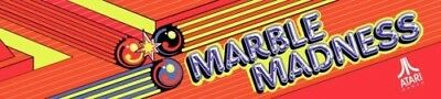 """Marble Madness Arcade Marquee 23.5"""" x 5.5"""""""