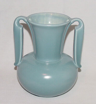 VINTAGE Mid-Century Blue Stangl Pottery Double-Handled #3103 Vase!