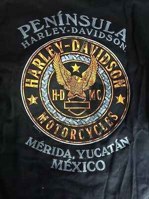 Peninsula Harley-Davidson T-Shirt Size XL from Medira Mexico - New with tags