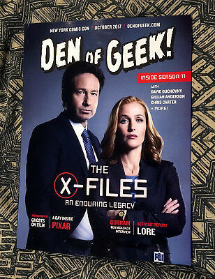 THE X-FILES DEN OF GEEK 2017 NYCC EXCLUSIVE MAGAZINE New York Comic Con Duchovny