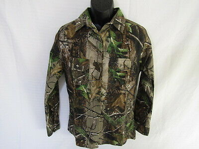 She Safari, Tailored Long Sleeve Camoe Shirt, Realtree, Size M