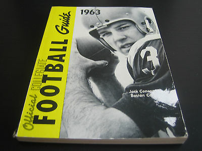 1963 Official Ncaa Football Guide ***jack Concannon Boston College***