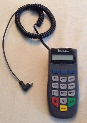 VeriFone Pinpad 1000 SE 16 Button Debt Card Keypad Terminal With Cable 6-14 VDC
