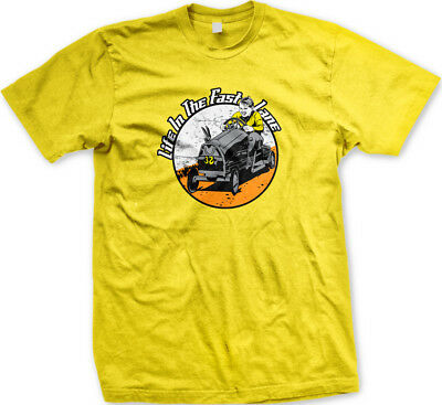 Life In The Fast Lane Kid Go Cart Child Racing Wooden Car Wheels Men's T-Shirt