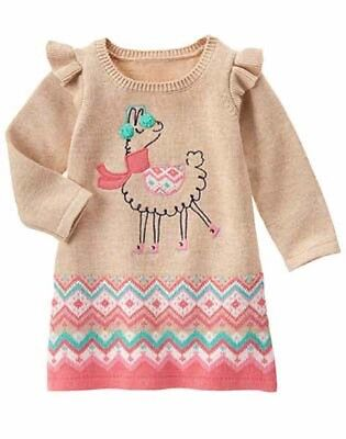 NWT Gymboree Snowflake Fun Llama Sweater Dress 12-18M 18-24M 2T 3T Toddler Girl