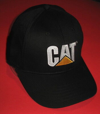 New Black w White Logo CAT BaseBall Cap Caterpillar Equipment Promo Ball Hat