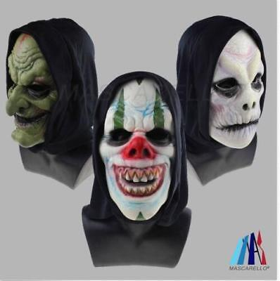 Latex Clown Scary Mask Halloween Wizard Costume Party Old Man Horror Mask Adult