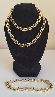 10ct solid gold chain necklace & matching bracelet 33.66g by Michael Hill $4,824