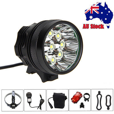 Super Bright 50000LM 9x T6 LED Bike Bicycle Head Light Headlamp+Laser Rear Light