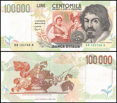 Italy 100,000 (100000) Lire, 1994, P-117a, CIRCULATED, USED