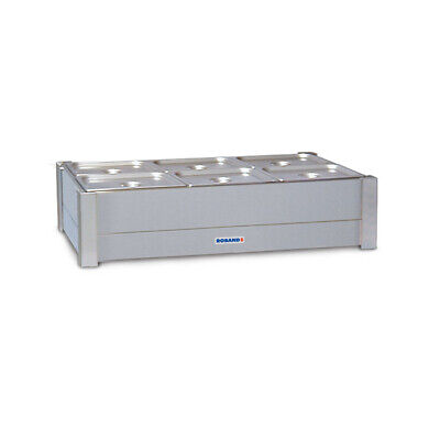 Bain Marie Hot Double Row For 6x 1/2 Size Empty No Pans Roband Food Warmer BM23