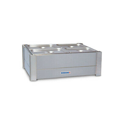 Bain Marie Hot Double Row For 4x 1/2 Size Empty No Pans Roband Food Warmer BM22