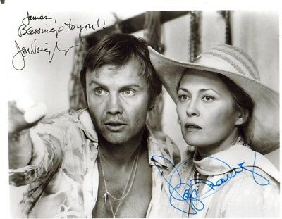 "Faye Dunaway & Jon Voight- Autographed By Both-""the Champ""-9 X 7 Inches Photo"