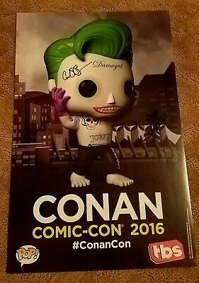 SDCC 2016 TBS Conan Exclusive signed Poster