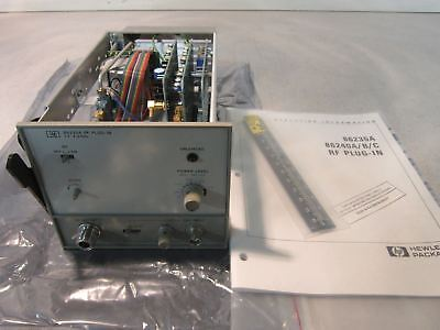 HP 86235A RF Plug In with Opt 008 1.7-4.3 GHz Appears Unused with Scale & Manual