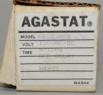 Agastat Timing Relay SSC22AEA ++ NEW ++