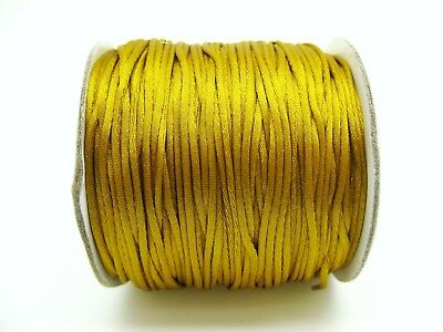 4.5m Gold Satin Cord 1.5mm Silicone Beads Necklace Teething String DIY