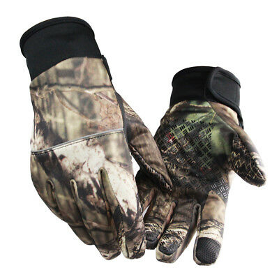 Unisex Camouflage Screen Touch Gloves Winter Warm Anti-slip Gloves For Sports