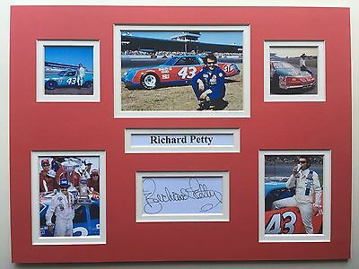 "NASCAR Richard Petty Signed 16"" X 12"" Double Mounted Display"