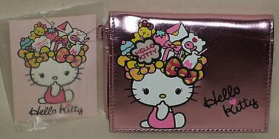 Hello Kitty Mori Girl Card Case Holder 3 Pockets Kawaii Sanrio 2010 NWT Rare
