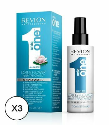 Revlon Uniq One Lotus - Soin nutritif en Spray 150ml x3