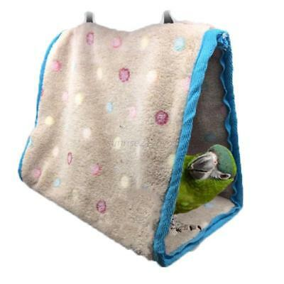 Parrot Bird Plush Hammock Hanging Cave Cage Snuggle Soft Hut Tent Bed Bunk Toy