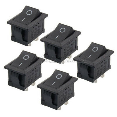 5PCS Car Truck Boat Round Rocker 2 Pin ON OFF Toggle SPST Switch 6A New