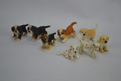 Schleich Puppies Lot of 8 Figures Dogs Dalmation Bernese Retriever