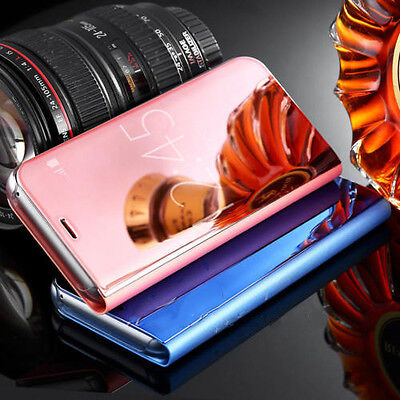 Mirror Effect Clear View Wallet Flip Case Cover For Samsung Galaxy S8&S8Plus