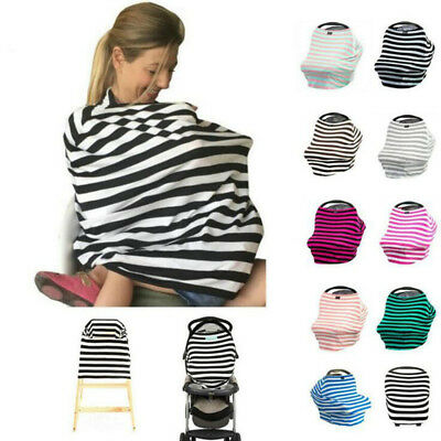 5 Colors Cotton Pregnant Women Striped Nursing Cover Baby Breastfeeding Cover