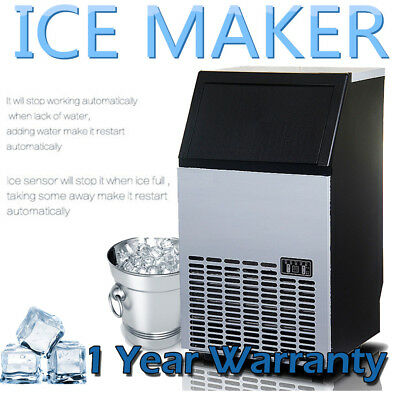 New 65KG /Day Auto Portable Commercial Ice Maker Cube Machine Home Business AU