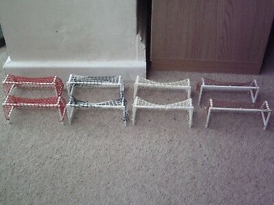 Two Subbuteo Standard Goals C148 Choose Your Net Colour Red Brown White Green