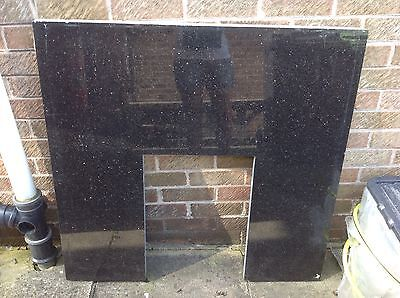 Solid Granite Fireplace