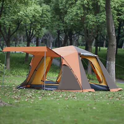 Large 3-4 Person Instant Pop Up Tent Dual Layers Camping Outdoor Portable Tent 8