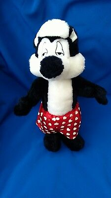 Looney Tunes Pepe Le Pew Skunk Soft Toy Plush