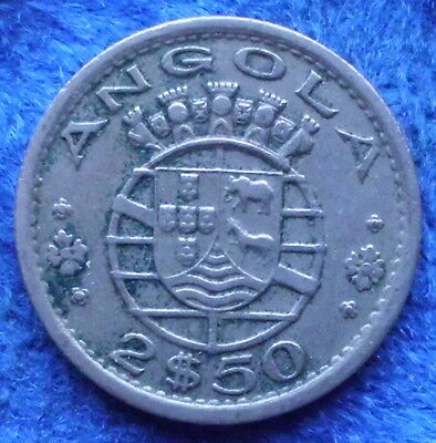 ANGOLA - 2.50 escudos 1956 KM# 77 Portuguese Colony until 1975 - Edelweiss Coins