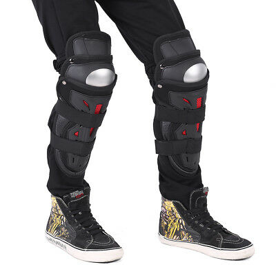 2pcs Adults Alloy Steel Motorcycle Racing Knee Guards Pad Brace Protective Gear