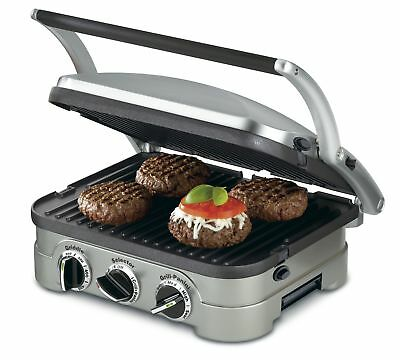 Cuisinart GR-4N Griddler Stainless Steel 4-in-1 Grill/Griddle & Panini Press