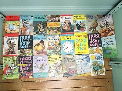 Job Lot 23 x Vintage Ladybird Books - Mixture Of Fiction & Non Fiction